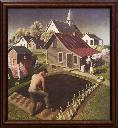 Spring in town /Grant Wood.